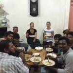 Sharing a meal Maldives